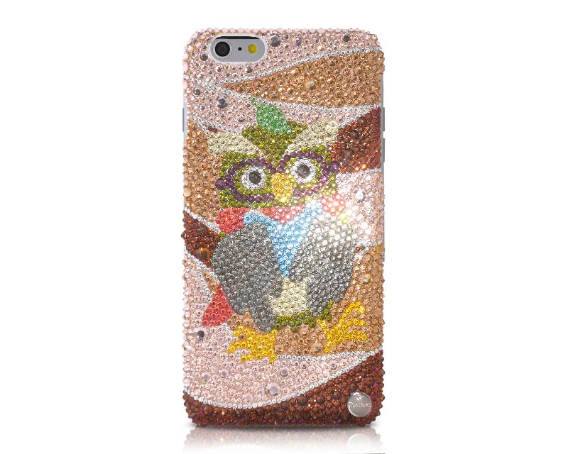 Colorful Owl Bling Swarovski Crystal Phone Cases