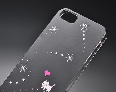 Snow Catty Bling Swarovski Crystal Phone Cases
