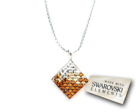 Tactic Bling Swarovski Crystal Necklace - Gold