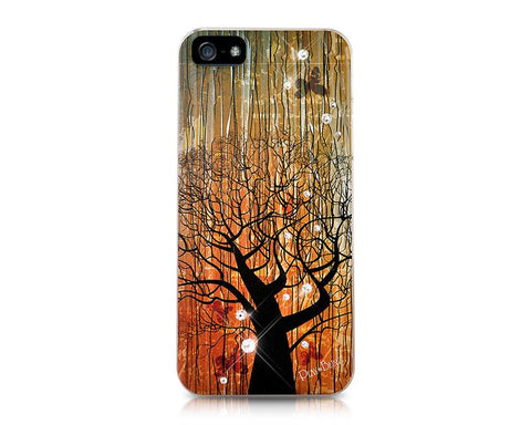 Timber Bling Swarovski Crystal Phone Cases - Aged Tree