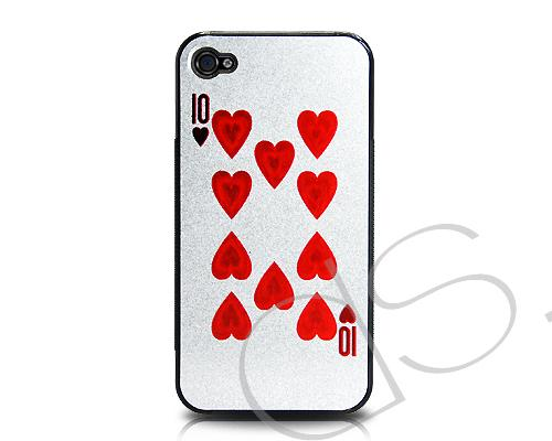 Poker Series iPhone 4 and 4S Case - Heart Ten
