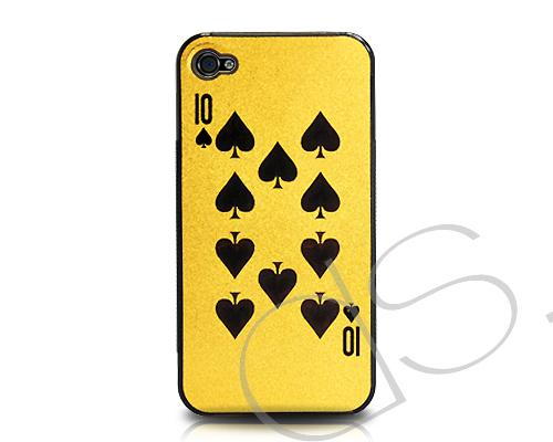 Poker Series iPhone 4 and 4S Case - Spade Ten