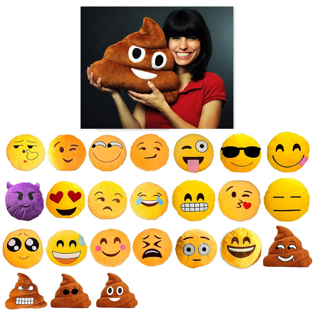 12 Inches Emoji Plush Pillow Emoji Cushion