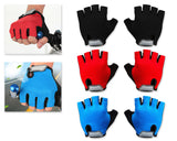 1 Pair Outdoor Sports Gloves Breathable Cycling Fingerless Gloves