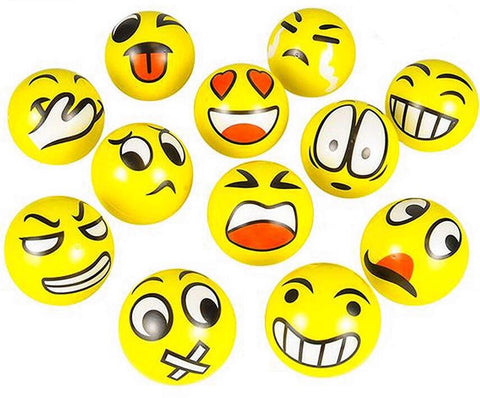 Emoji Squishies 12 Pieces Emoticon Stress Balls