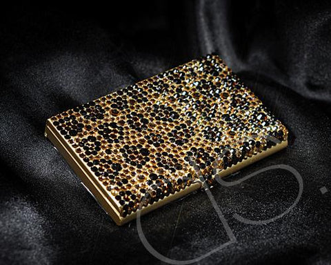 Leopardo Swarovski Crystallized Card Case