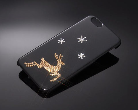 Xmas Deer Bling Swarovski Crystal Phone Cases