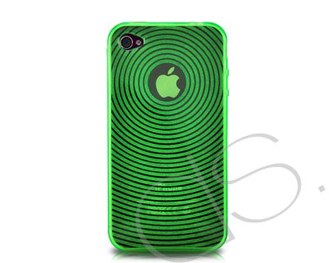 Swirling Series iPhone 4 and 4S Silicone Case - Green