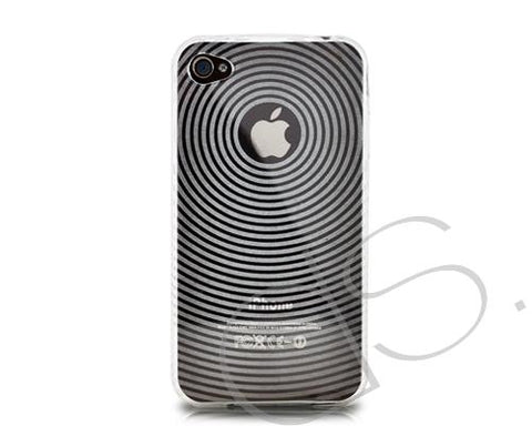 Swirling Series iPhone 4 and 4S Silicone Case - Transparent