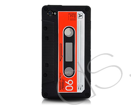 Tape Series iPhone 4 Silicone Case - Black