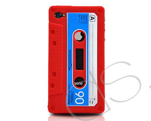 Tape Series iPhone 4 Silicone Case - Red