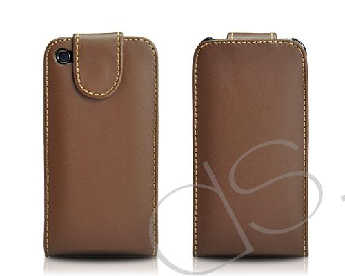 Volte Series iPhone 4 and 4S Leather Flip Case - Brown