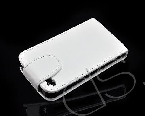 Volte Series iPhone 4 and 4S Leather Flip Case - White