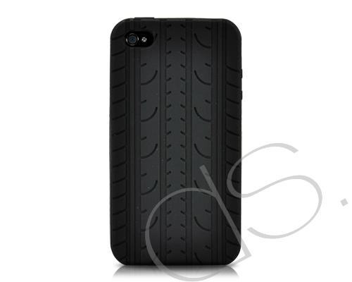 Wheel Series iPhone 4 Silicone Case - Black