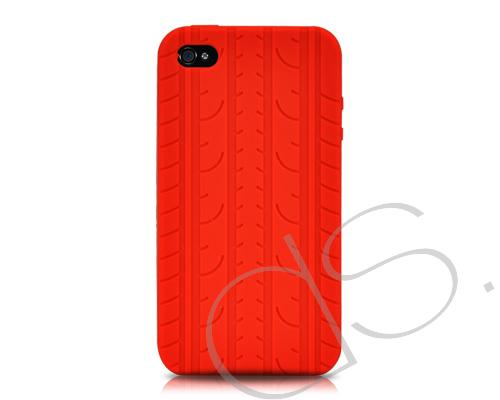 Wheel Series iPhone 4 Silicone Case - Red