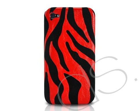 Zebra Series iPhone 4 and 4S Case - Red