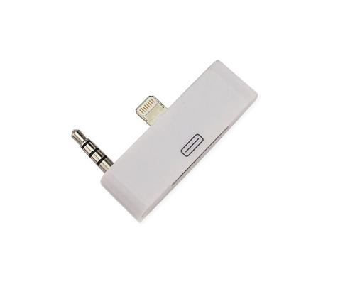 8 Pin to 30 Pin 3.5mm Audio Output Adapter Converter - White