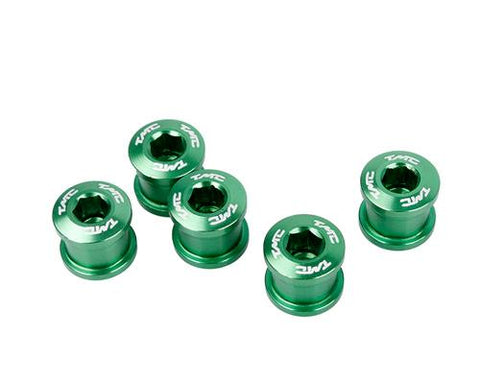 5 Pcs Aluminum Road Bike Bicycle Crankset Bolts Screws - Green