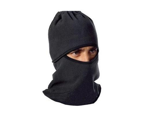Winter Warmer Snood Fleece Mens Neck Ski Hat Scarf Mask - Black