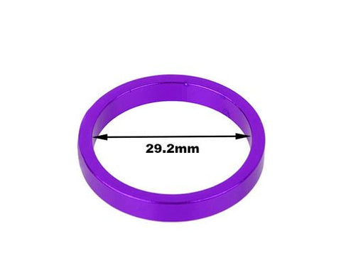 3 Pcs Aluminum 5mm Cycling Bike Headset Spacers - Purple
