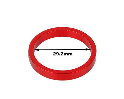 3 Pcs Aluminum 5mm Cycling Bike Headset Spacers - Red