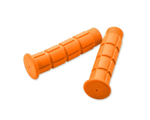 2 Pcs Simple Silicone Cycling Bike Handlebar Grips - Orange