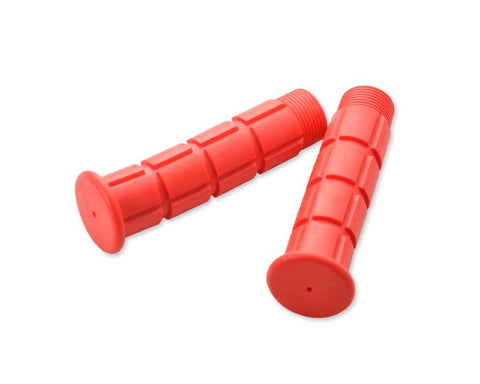 2 Pcs Simple Silicone Cycling Bike Handlebar Grips - Red