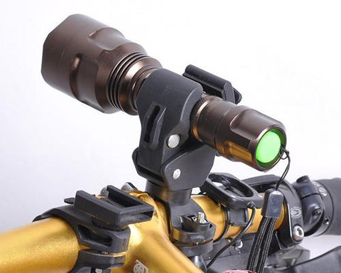Universal Adjustable Plastic Cycling Bike Flashlight Mount Holder Clip