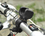 360 Degree Rotation Bike Flashlight LED Torch Mount Holder Clip -Black