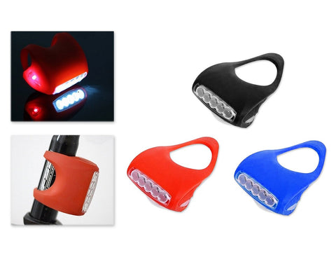 7 LED Silicone Safety Warning Bike LED Front Rear Flashlight