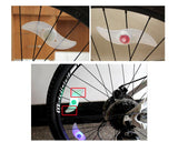 6 Pcs Colorful LED Water Resistant Bike Wheel Light