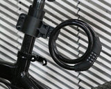 2 Feet Bicycle Resettable Combination Spiral Cable Lock - Black