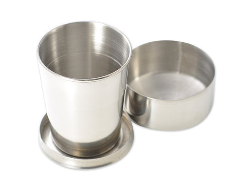 Stainless Steel Collapsible Cup - Silver