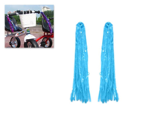 2 Pcs Bike Handlebar Streamers for Kid's Bike - Blue