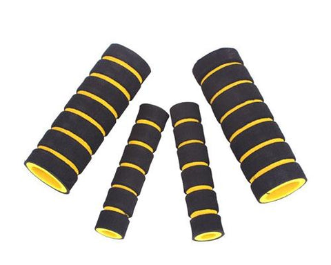 Set of 4 Pcs Bike Bicycle Anti-slip Sponge Handlebar Grip Cover-Yellow