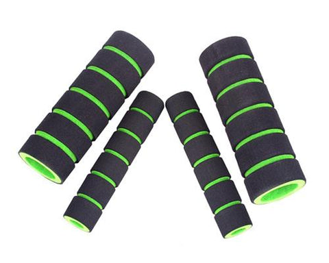 Set of 4 Pcs Bike Bicycle Anti-slip Sponge Handlebar Grip Cover -Green