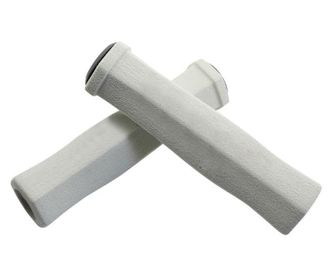 2 Pcs Soft Sponge Cycling Fixed Gear Bike Handlebar Grips - White