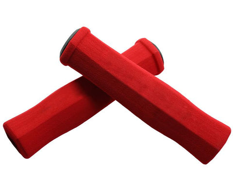 2 Pcs Soft Sponge Cycling Fixed Gear Bike Handlebar Grips - Red