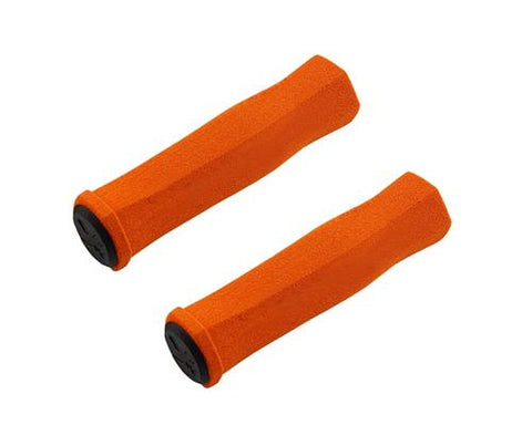 2 Pcs Soft Sponge Cycling Fixed Gear Bike Handlebar Grips - Orange
