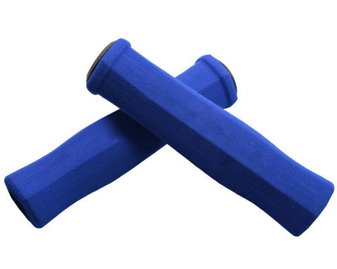 2 Pcs Soft Sponge Cycling Fixed Gear Bike Handlebar Grips - Blue