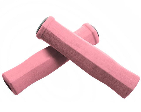 2 Pcs Soft Sponge Cycling Fixed Gear Bike Handlebar Grips - Pink