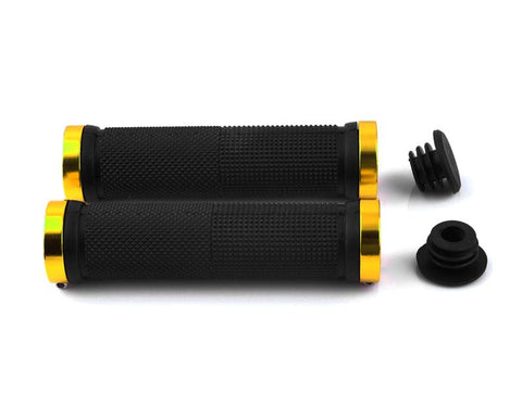 2 Pcs Rubber Cycling Mountain Bike Road Bike Handlebar Grips - Gold