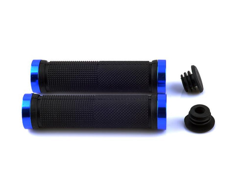 2 Pcs Rubber Cycling Mountain Bike Road Bike Handlebar Grips - Blue