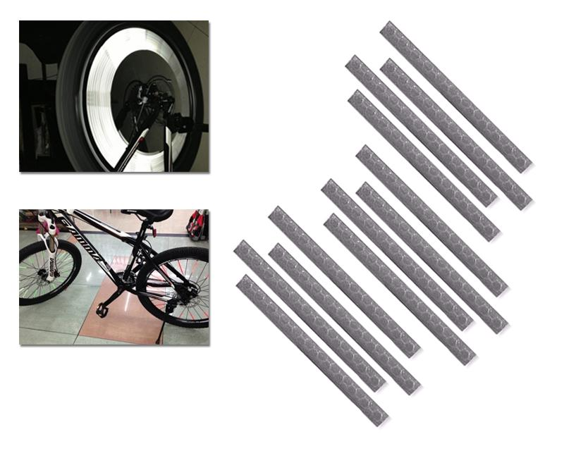 12 Pcs Cycling Bike Rim Wheel Spoke Reflective Clip Reflector