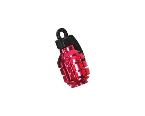 2 Pcs Grenade Shaped Bicycle BMX Bike Car Tire Tyre Valve Caps - Red