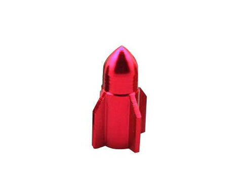 2 Pcs Rocket Shaped Bicycle BMX Bike Car Tire Tyre Valve Cap - Red