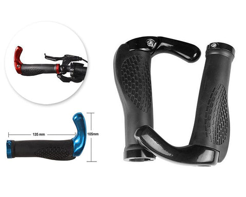 2 Pcs Cool Ergonomic Bicycle Mountain Bike MTB Handlebar Grips - Black