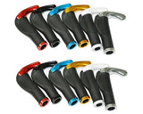 2 Pcs Cool Ergonomic Bicycle Mountain Bike MTB Handlebar Grips - White