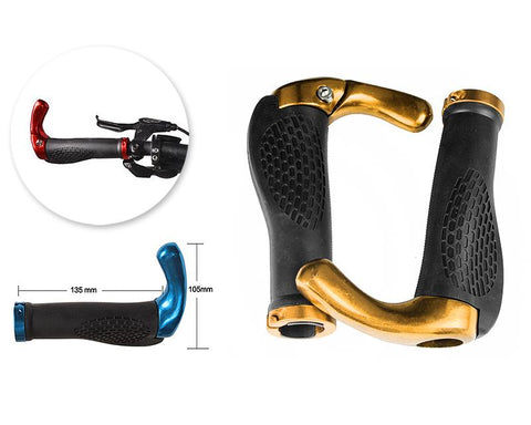 2 Pcs Cool Ergonomic Bicycle Mountain Bike MTB Handlebar Grips - Gold