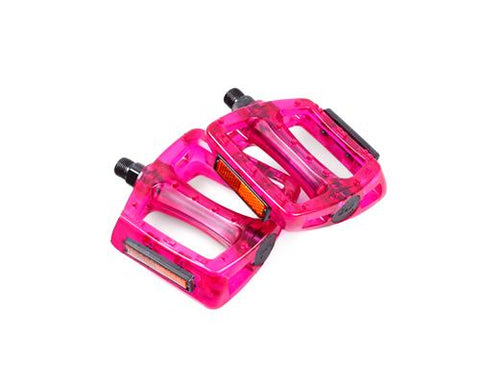 "2 Pcs Cycling BMX Fixie Bike Fixed Gear Platform Pedals 9/16"" - Red"